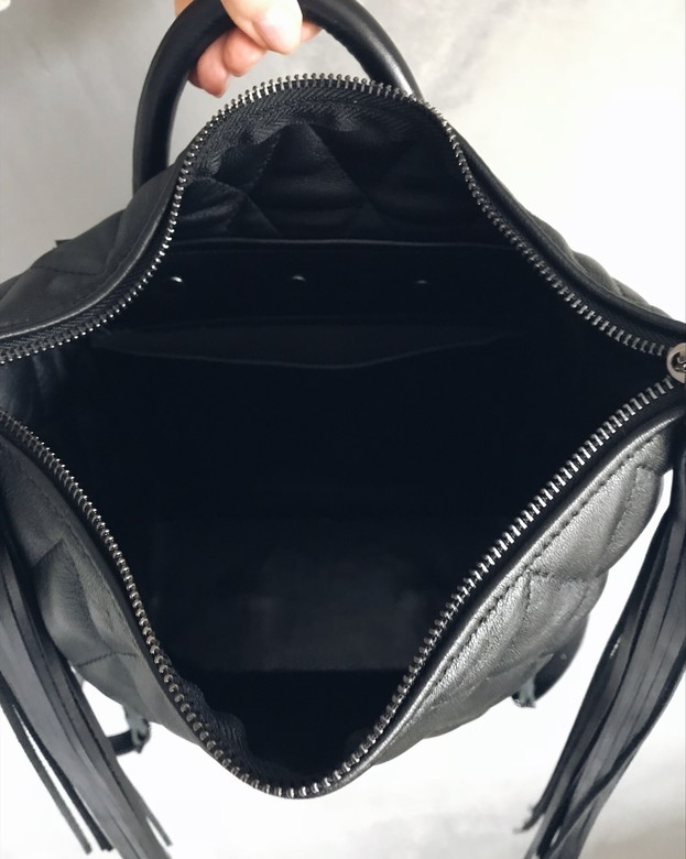Minimalism in bags Leather Stitch Backpack Black (Черный)