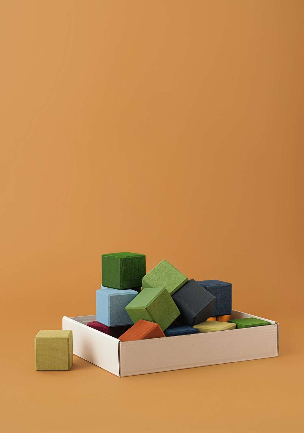 Earth colors cubes set