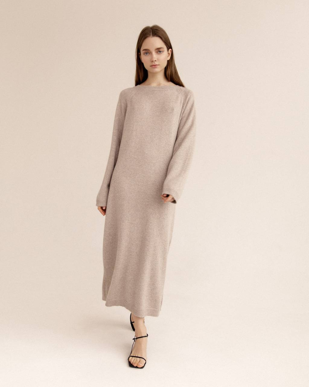 Oversize extra soft 100% cashmere dress- 485 USD / 399 EUR