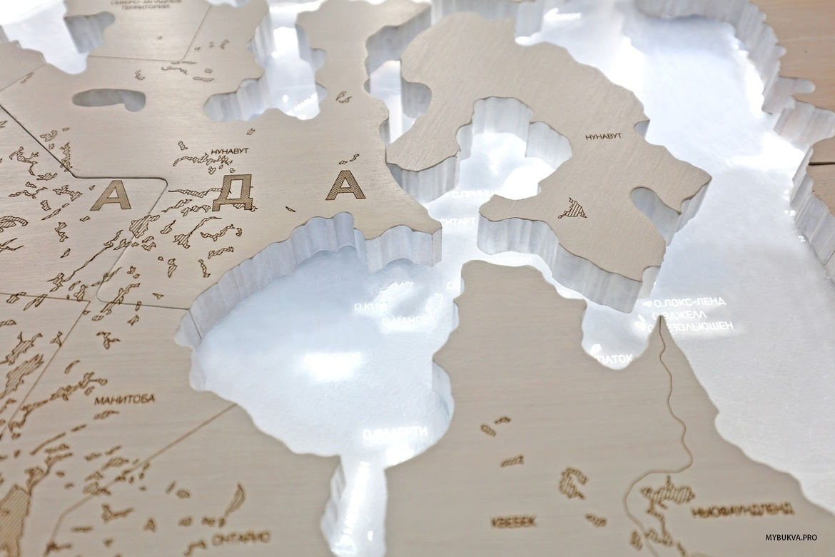 "World Map ""SnowQueen"""