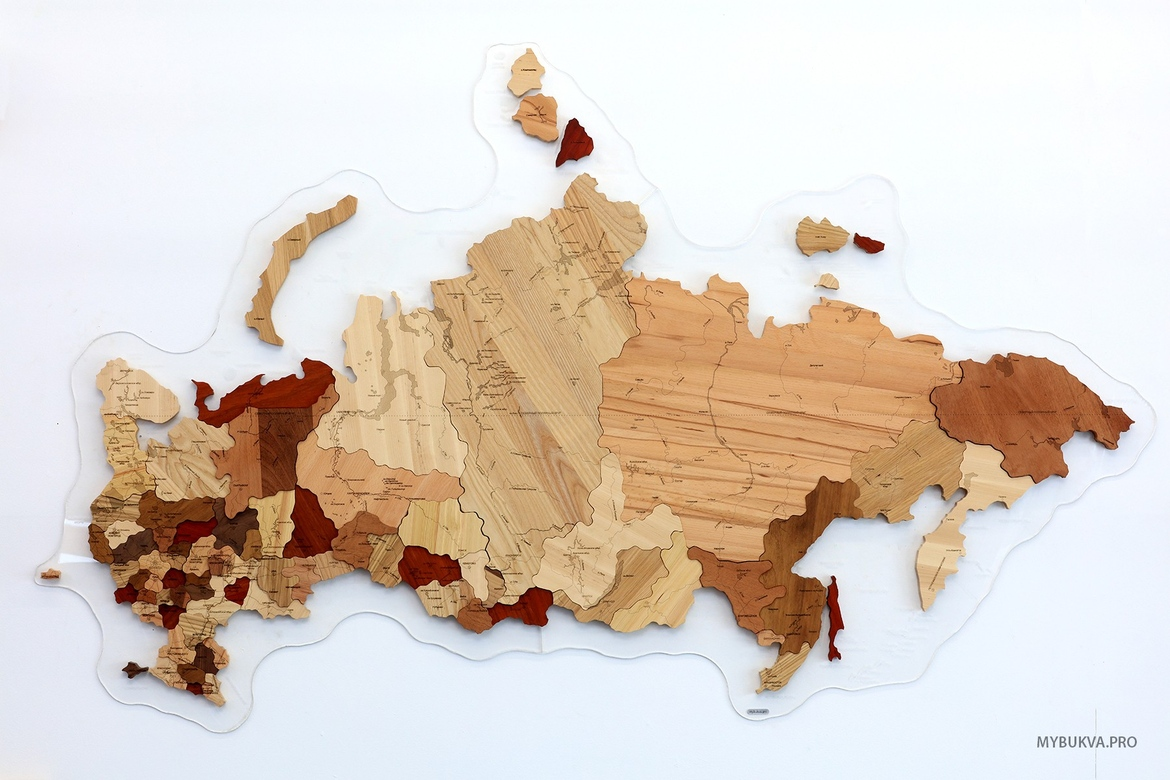 The Russia map (from different breeds)