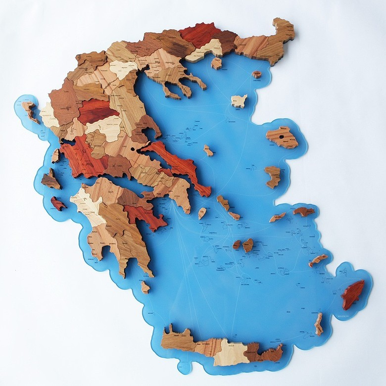 Map of Greece (on acryl)