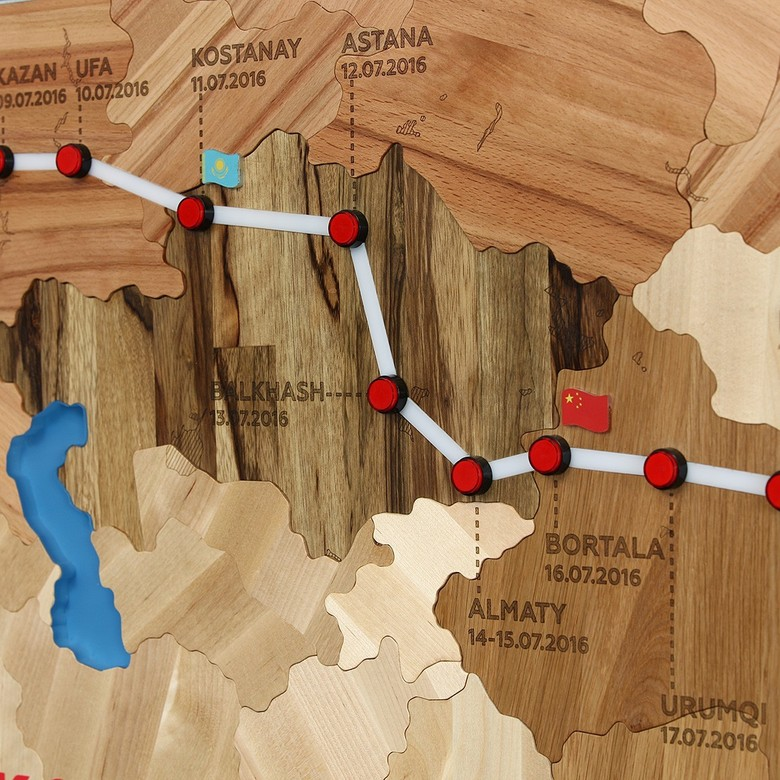 Map SILK WAY 2016