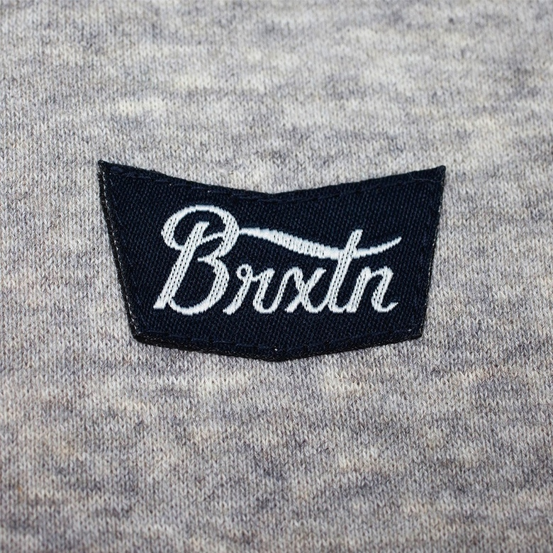 Свитшот с логотипом Brixton Stith WL Crew Heather Grey