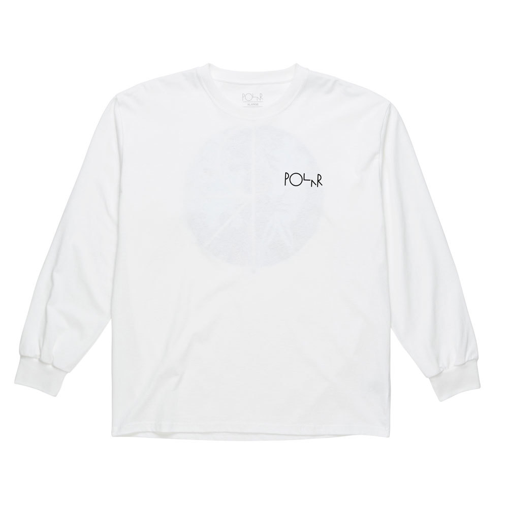 Лонгслив Polar Skeleton Fill Logo Longsleeve White