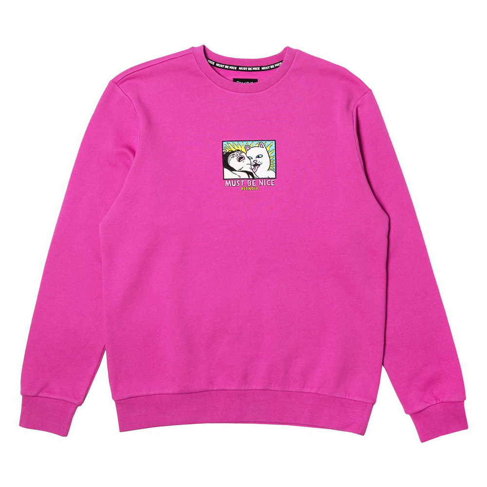 Свитшот RIPNDIP Lady Friend Crewneck Fuchsia