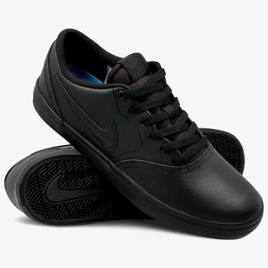 Кеды Nike SB Check Solarsoft Skateboarding Shoe Black Black