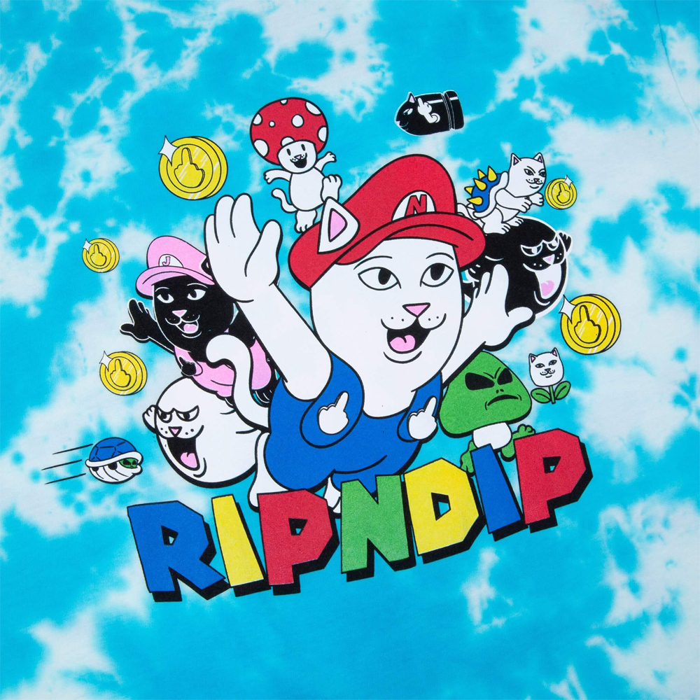 Футболка RIPNDIP Nermio Tee Blue Cloud Wash