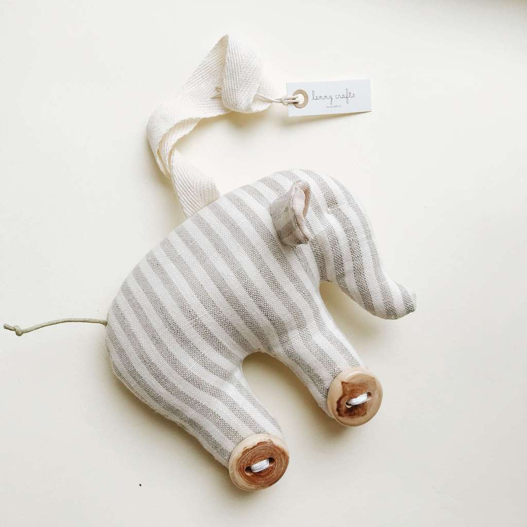 Погремушка STRIPED BABY ELEPHANT