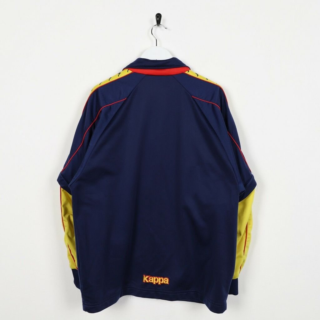 Винтажная олимпийка 90s KAPPA Small Logo Zip-Off Tape Arm Navy Blue