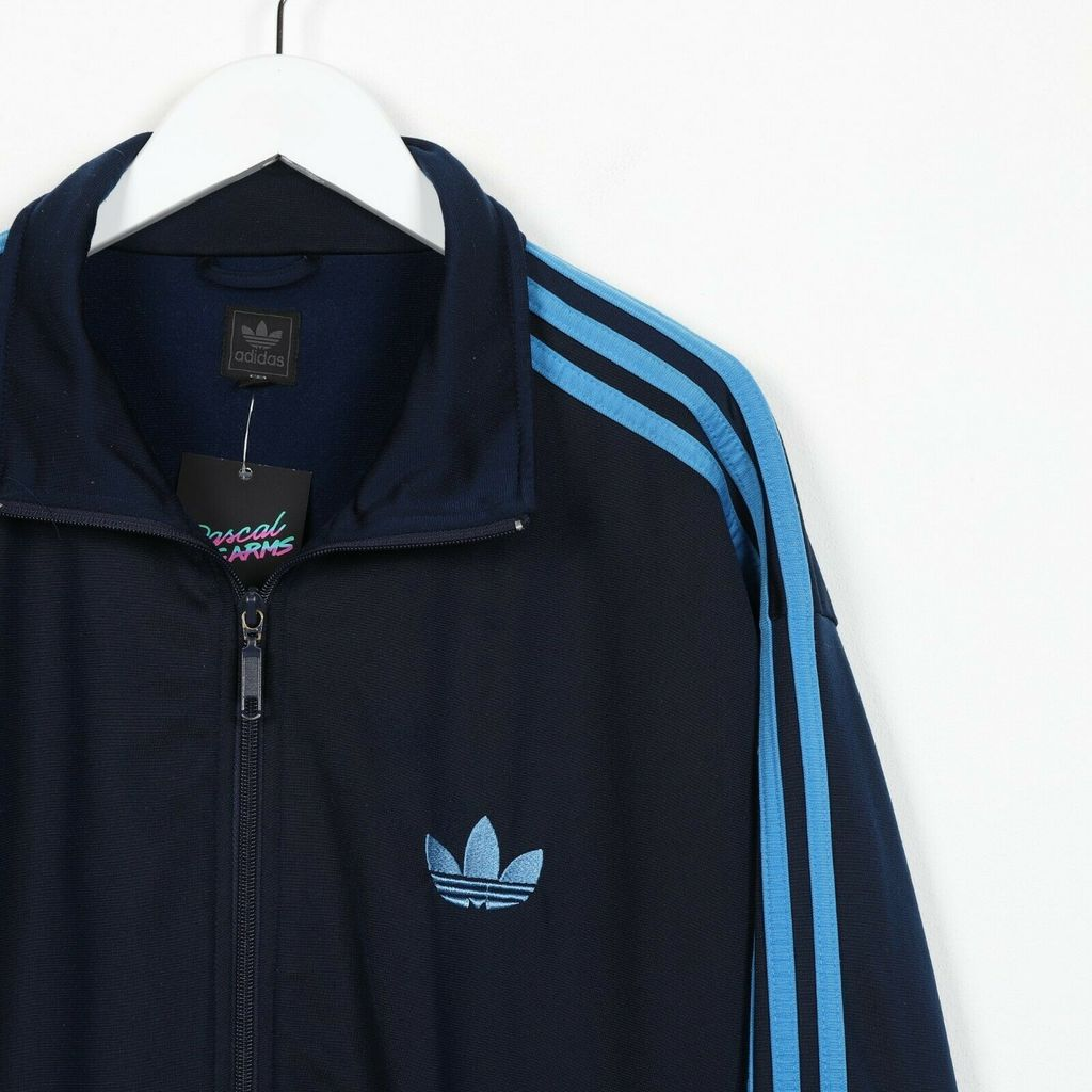 Винтажная олимпийка ADIDAS ORIGINALS Small Logo Track Top Jacket Blue