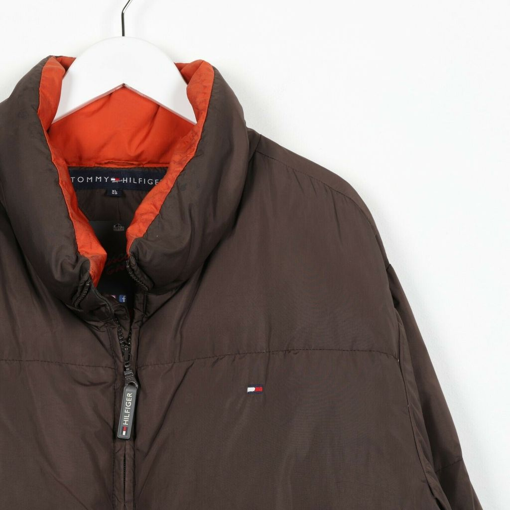 Винтажный пуховик TOMMY HILFIGER Small Box Logo Brown