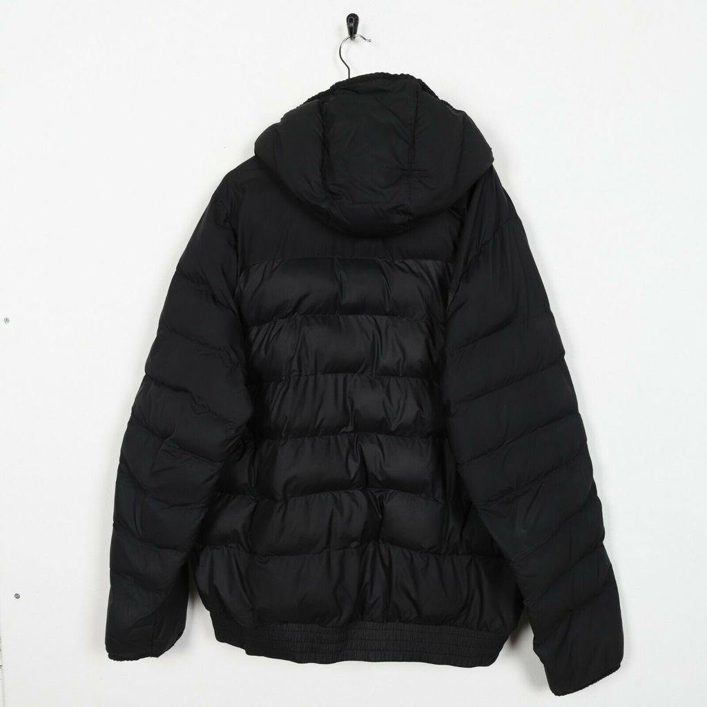 Винтажный пуховик NIKE Small Logo Hooded Puffer Black