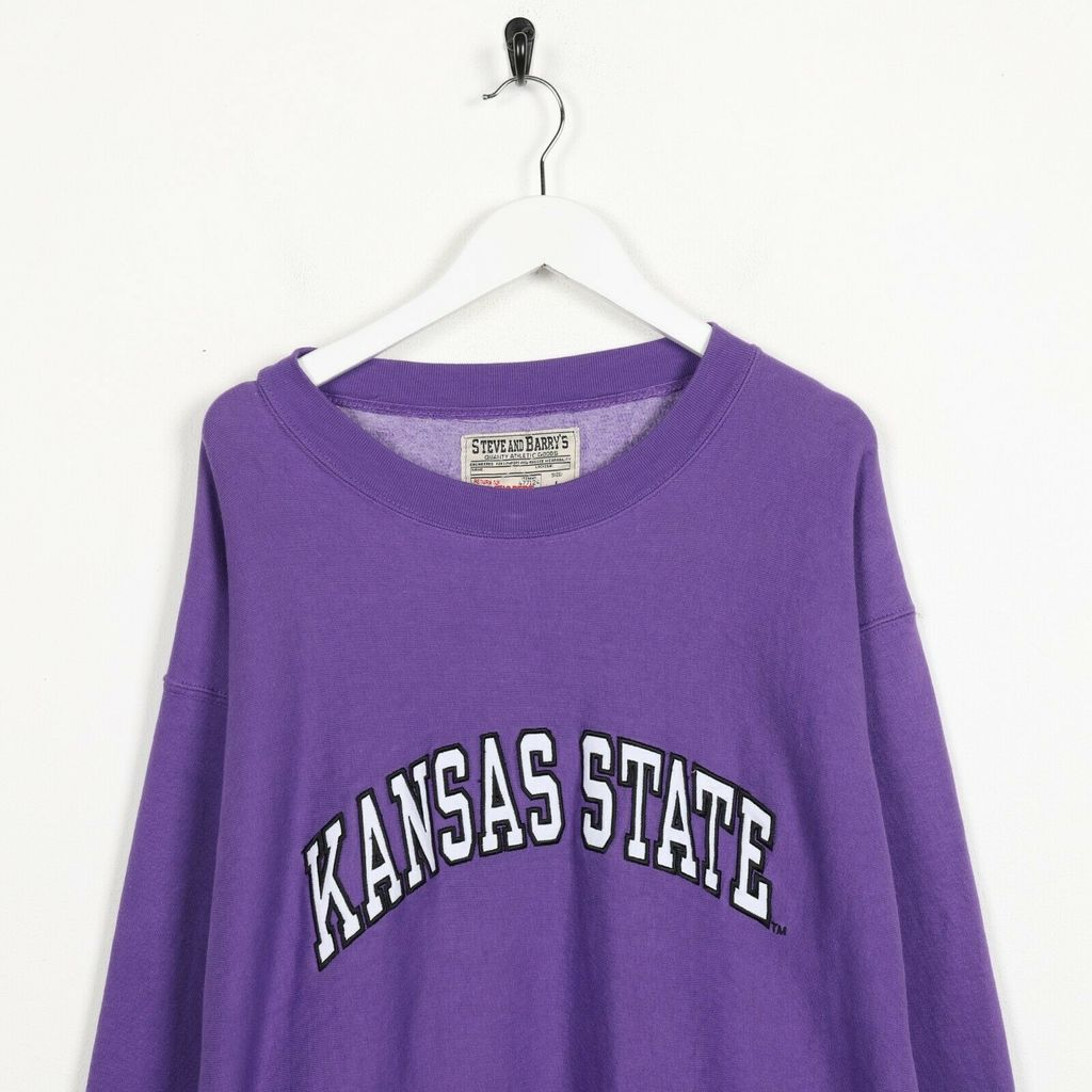 Винтажный свитшот  STEVE & BARRY'S Kansas State Big Logo Purple