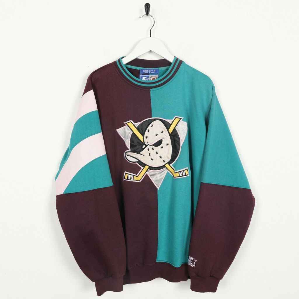 Винтажный свитшот STARTER MIGHTY DUCKS Big Logo Red Blue