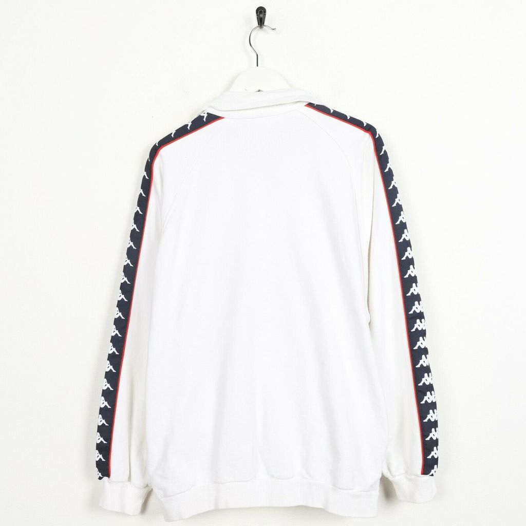 Винтажная олимпийка KAPPA Small Logo Tape Arm Zip Up White