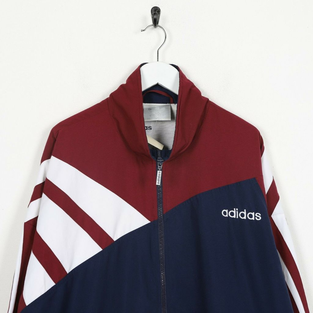 Винтажная олимпийка  80s ADIDAS Small Logo Windbreaker Navy Blue