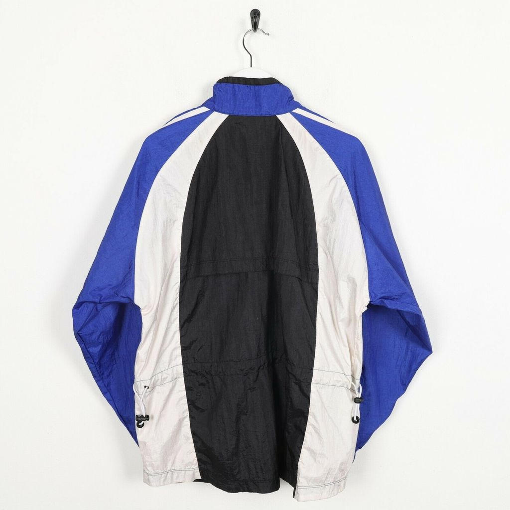 Винтажная олимпийка 80s ADIDAS Small Logo Soft Shell Windbreaker Jacket Black Blue