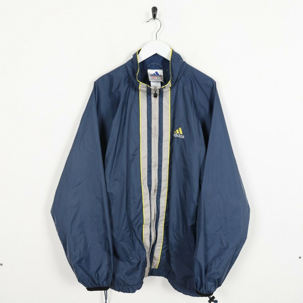 Винтажная олимпийка 90s ADIDAS Small Logo Track Top Jacket Blue