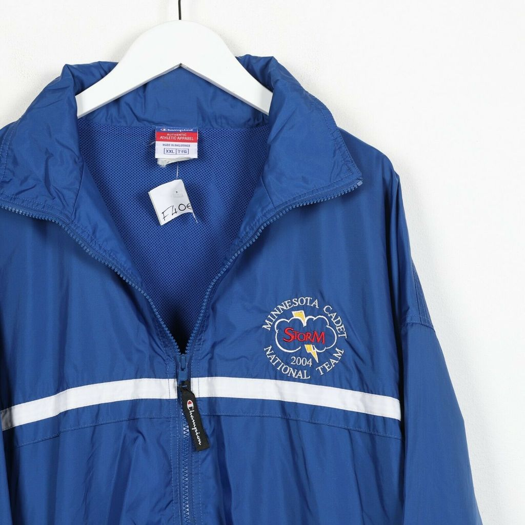 Винтажная куртка  CHAMPION Minnesota Cadet Soft Shell Windbreaker Jacket Blue