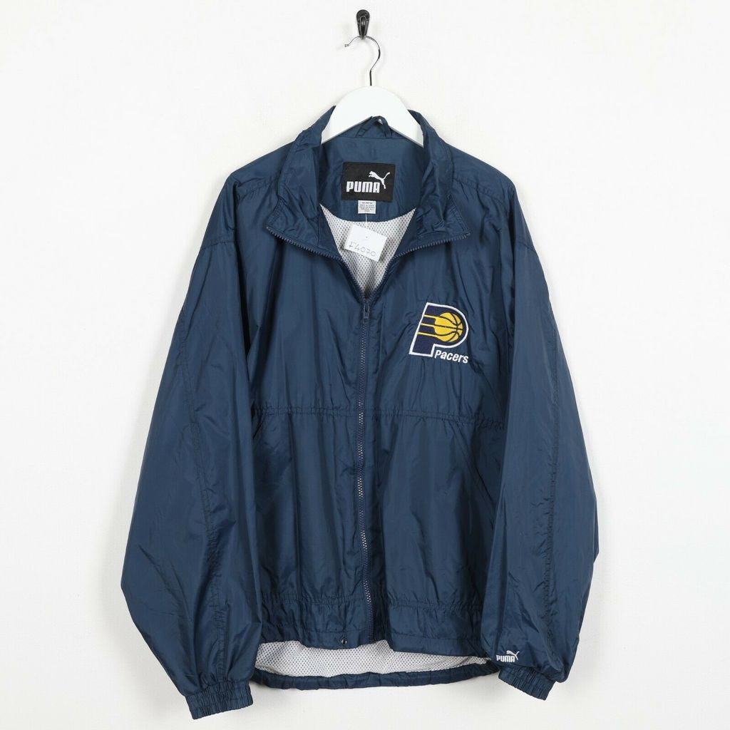 Винтажная куртка PUMA Indiana Pacers NBA Soft Shell Windbreaker Jacket Blue