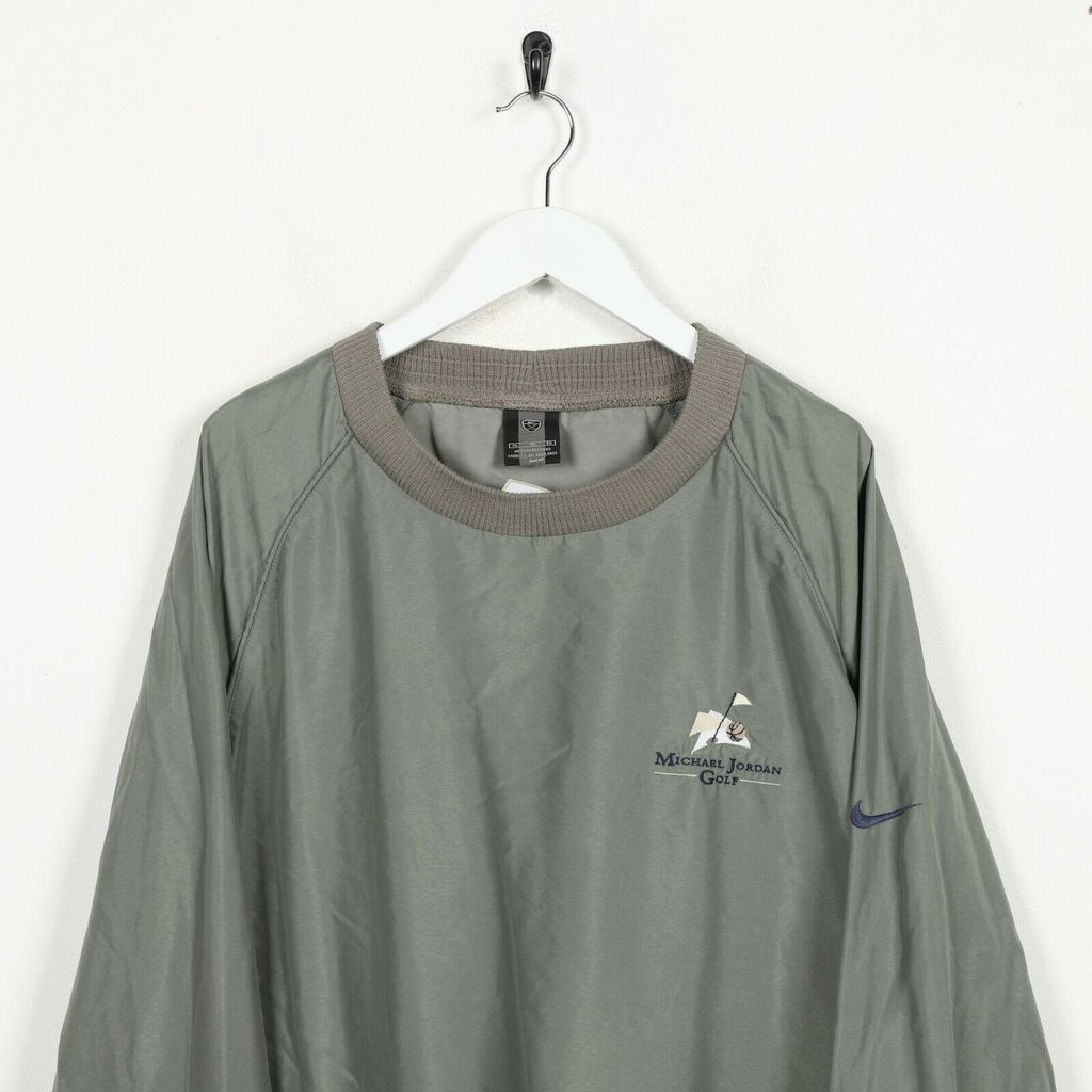 Винтажный свитшот NIKE GOLF Small Logo Polyester Grey Green