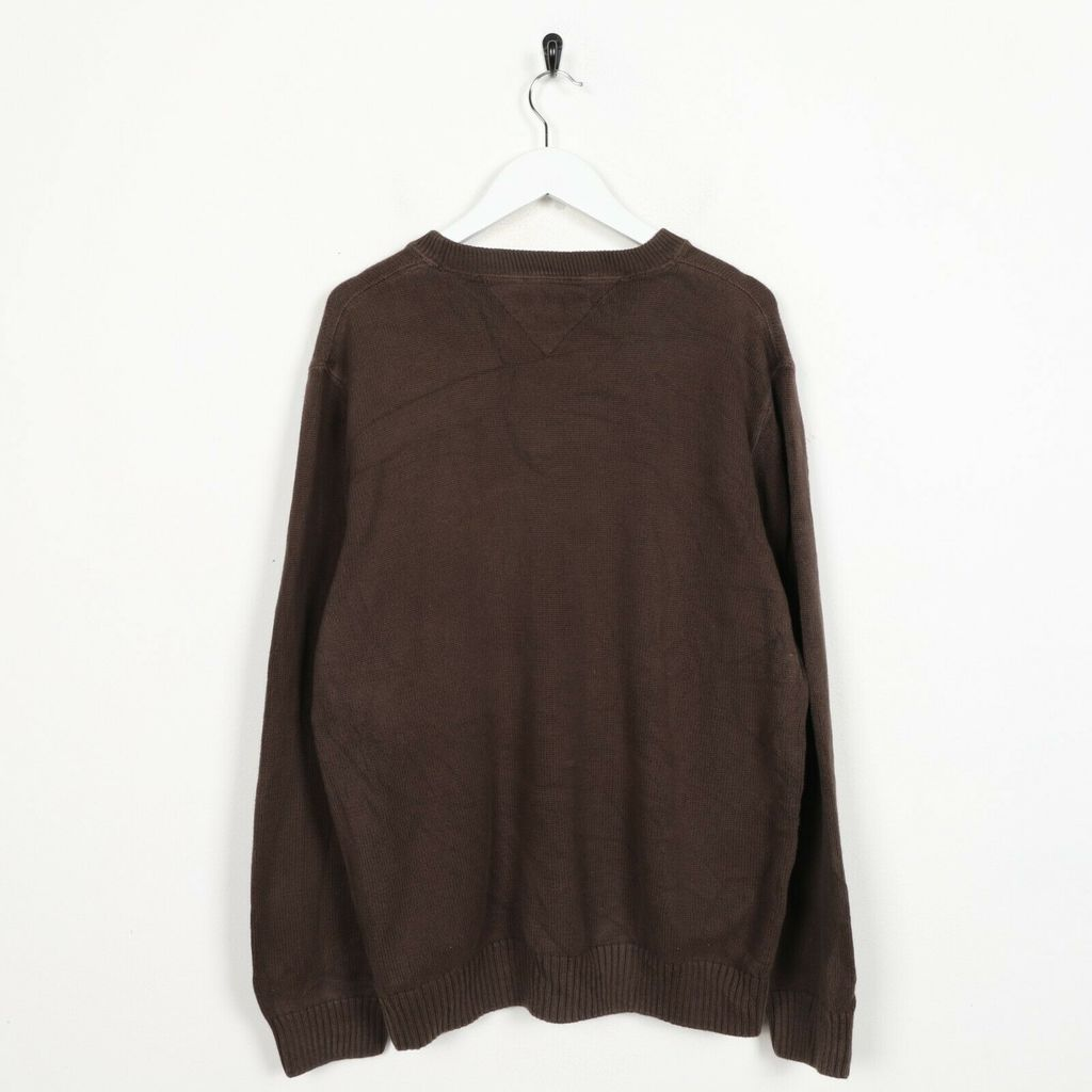 Винтажный свитшот TOMMY HILFIGER Small Logo Knitted Brown