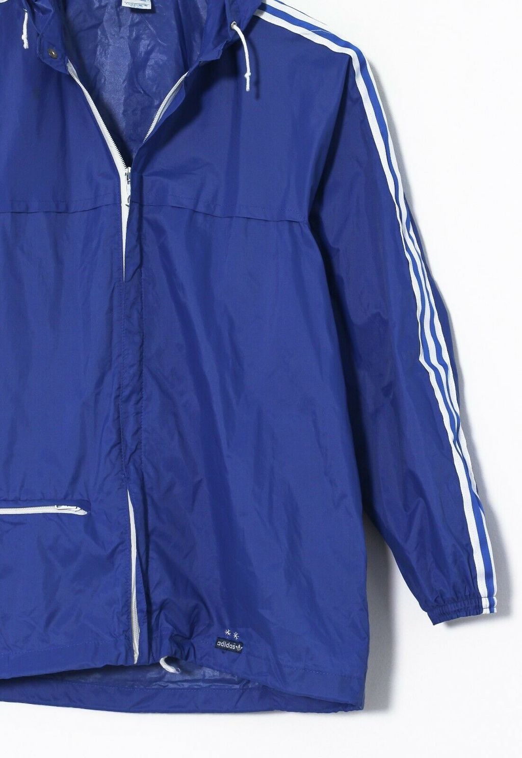Винтажная куртка 80s ADIDAS ORIGINALS Ventex Shell Raincoat Jacket Blue