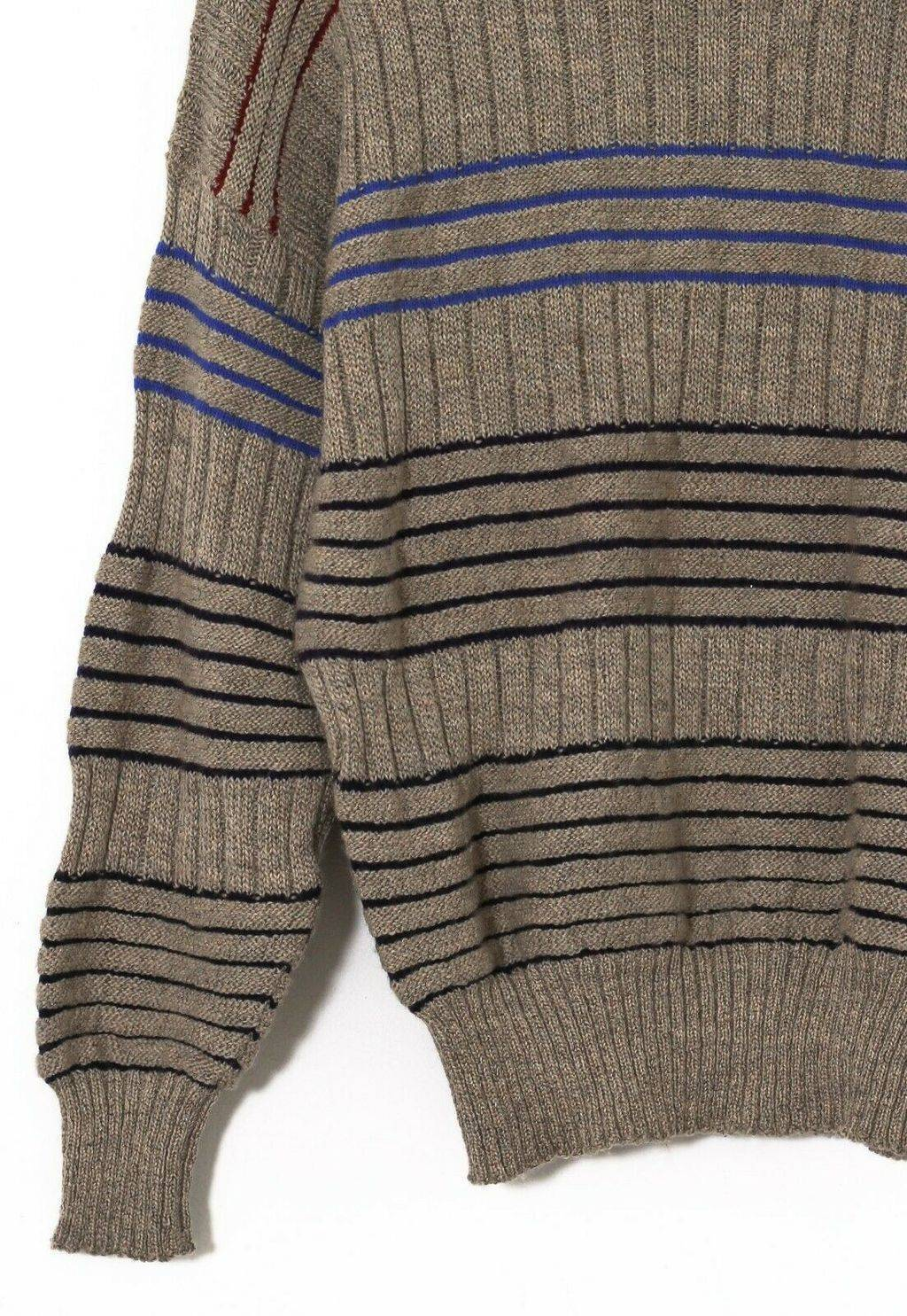 Винтажный джемпер 80s GIANNI VERSACE  Knitted Striped Grey