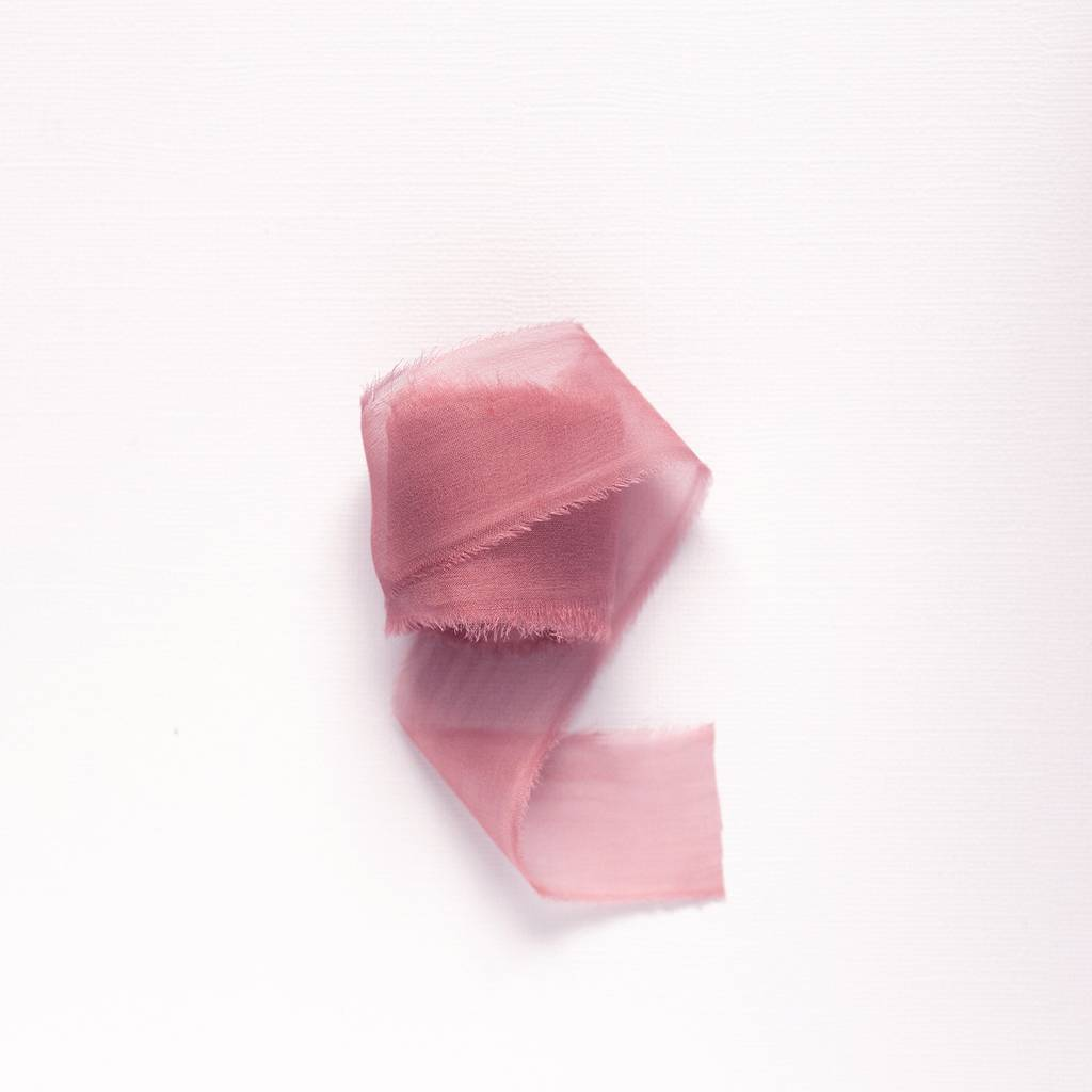 Rose Smoke Chiffon Ribbon