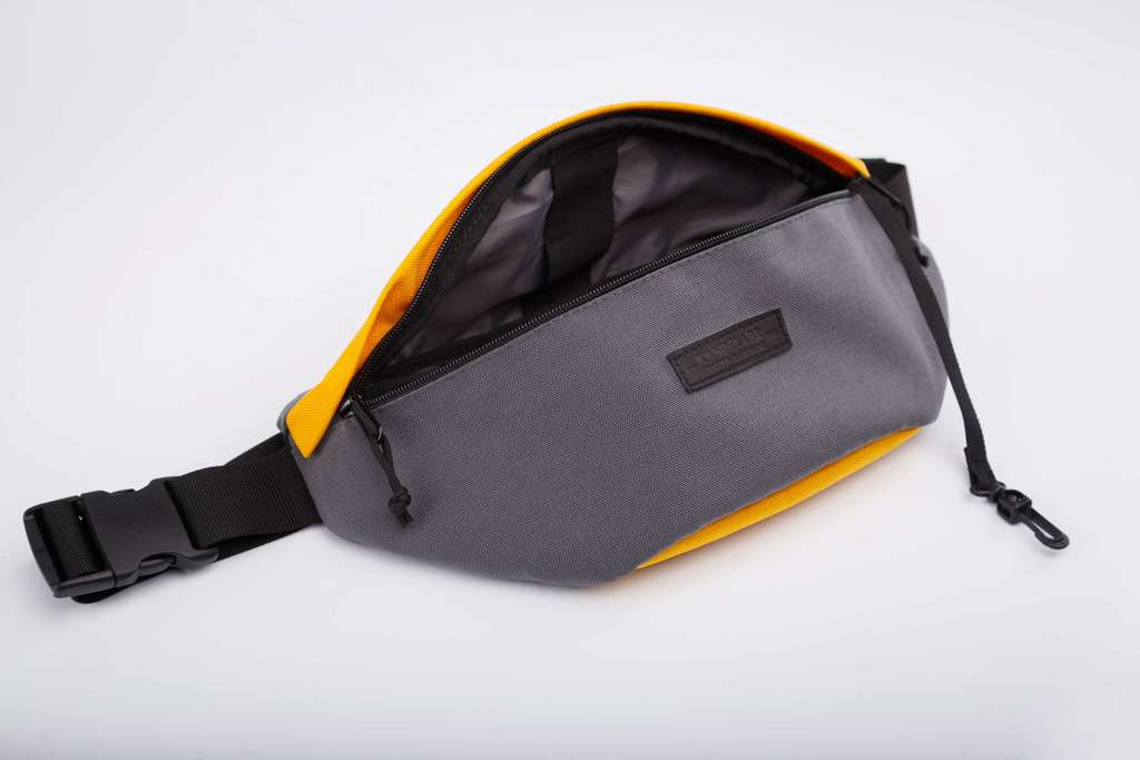 Hip Pack Large Grey-Yellow
