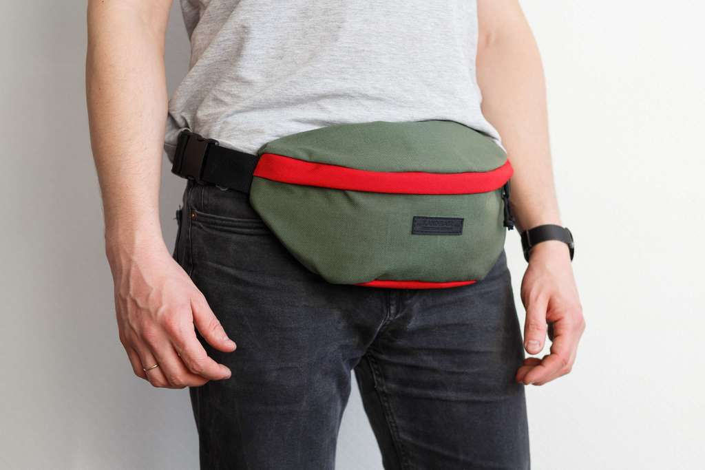 Hip Pack Large Olive-Red