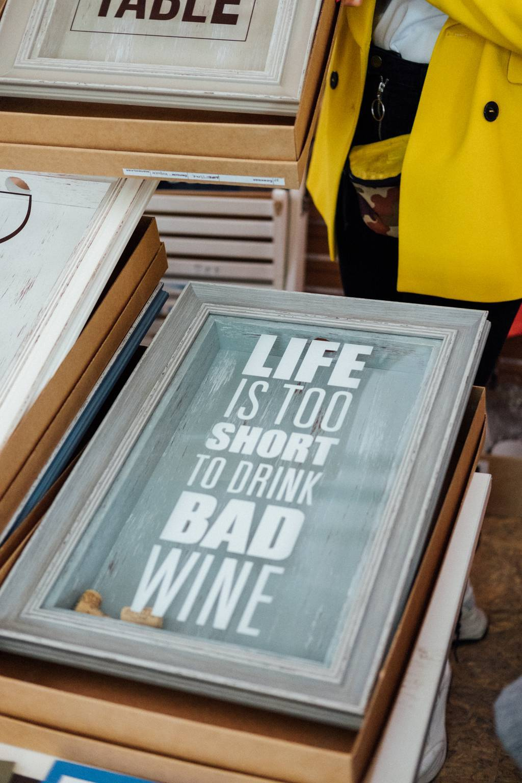 "Копилка  ""Life is too short to drink bad wine"""
