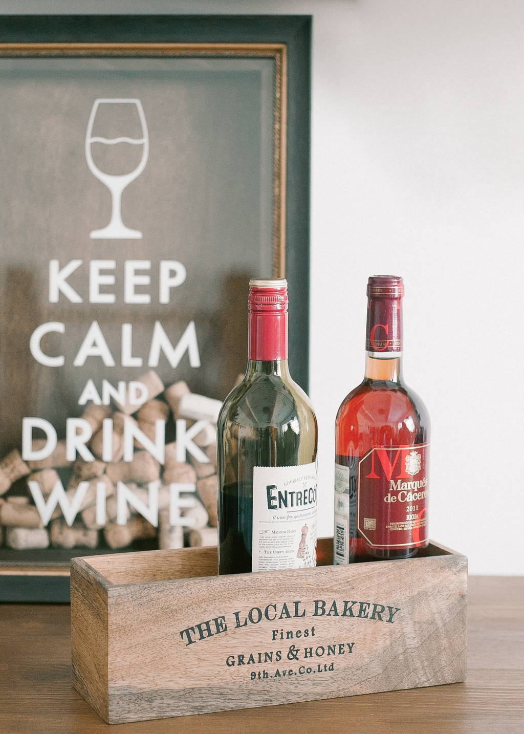 "Копилка  ""Keep calm and drink wine"""