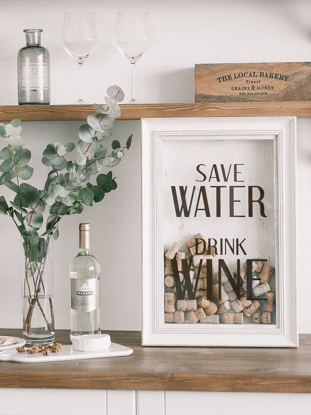 "Копилка ""Save water Drink wine"""