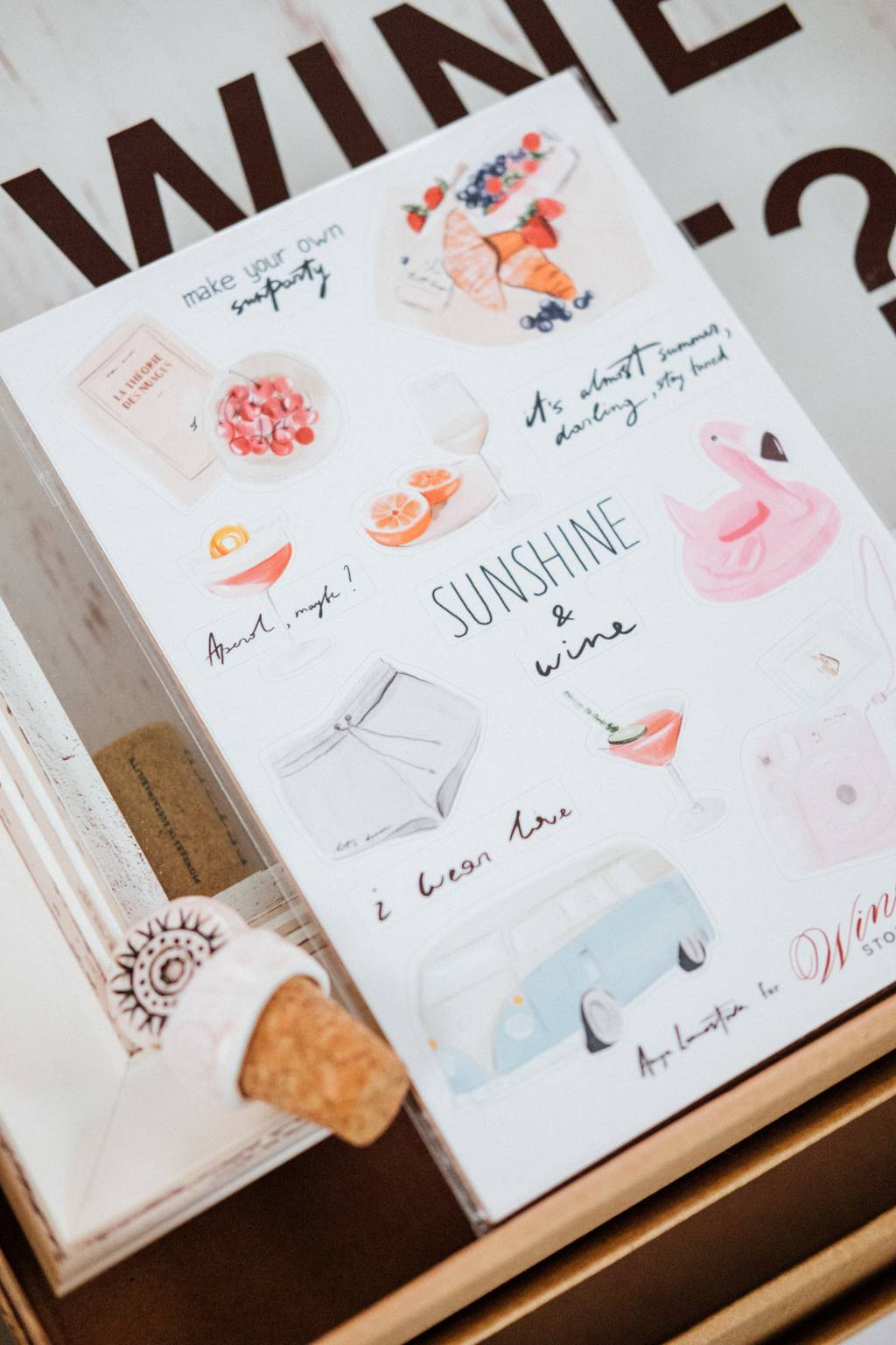 "Sticker Pack ""Sunshine&Wine"""