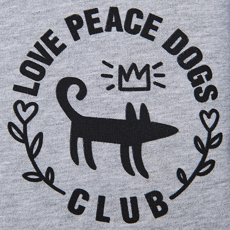 Костюм LOVE PEACE DOGS (светло-серый)