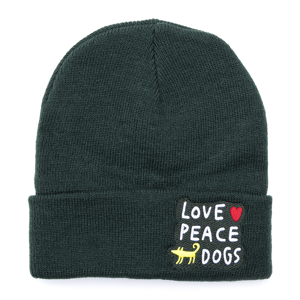 Шапка LOVE PEACE DOGS 2.0
