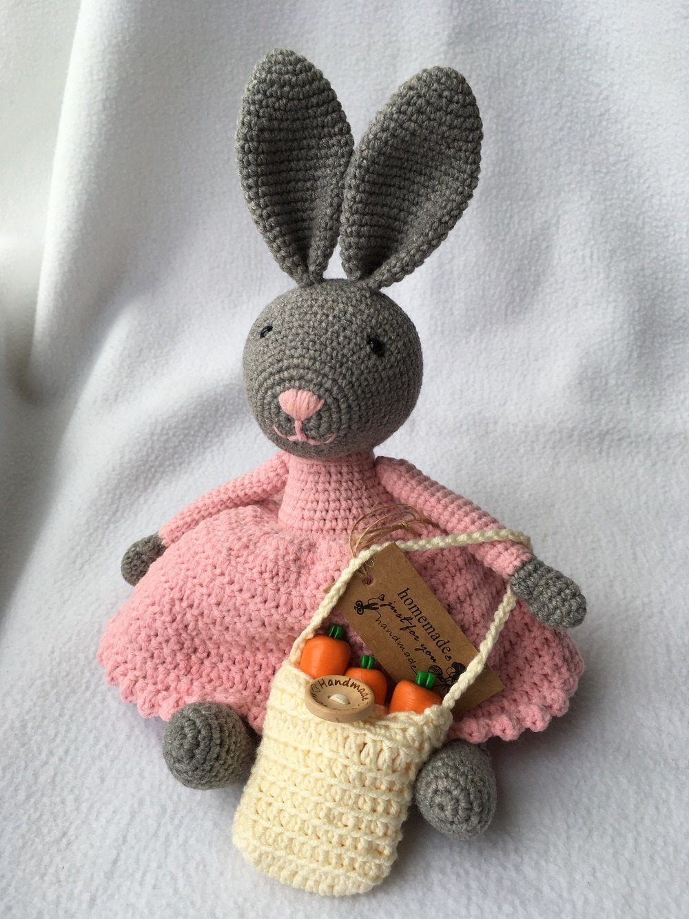 Victorian style knitted rabbit
