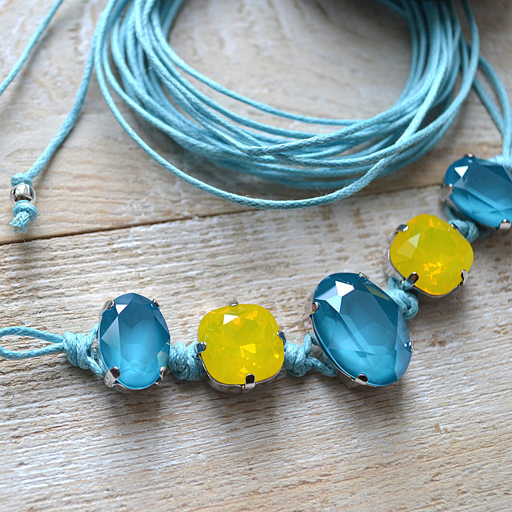 Bracelet MY SWAROVSKI BLUE/YELLOW